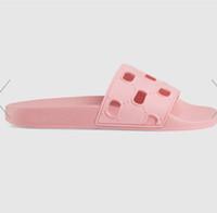 sandalias planas para niñas al por mayor-Antes de otoño de 2019 para mujer, recorte de goma sandalias de deslizamiento niñas deportivas piscina piscinas zapatillas mulas tamaño euro 35-41