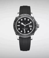 pulseira de aço de borracha venda por atacado-2019 luxo mens mergulho relógio 226659 yacht mestre relógios de grife cerâmica bezel 42 milímetros de borracha cinta automático homens relógio de pulso de aço inoxidável