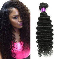 Wholesale hair waves online for sale - Brazilian Deep Wave Virgin Hair Brazilian Hair Bundles lot100 Curly Virgin Hair Factory Selling Cheap Deep Wave Curly Weave Online