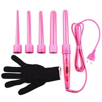 Wholesale hair curler brands resale online - DODO Brand Hair Curler in Curling Wand Interchangeable Hair Curler Roller Curling Iron Electric Salon Hair Styling ToolMX190925