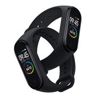 mi pulsera inteligente al por mayor-M4 Smart band 4 Fitness Tracker Watch Pulsera deportiva Frecuencia cardíaca Presión arterial Monitor de banda inteligente Pulseras de salud PK mi band 4