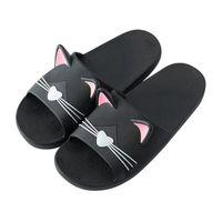 Wholesale sandal shose resale online - 2020 Men Women Home Indoors Slippers Cartoon Cat Floor Family Shoes Beach Sandals Men Casual Shose Beach Shoes Women