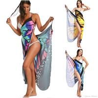 diseñador de mariposas al por mayor-2018 diseñador sexy falda de playa moda mariposa impresión multicolor gran tamaño honda playa falda 9106