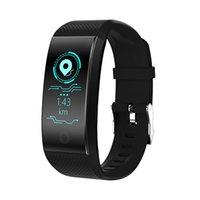 auto-fitness venda por atacado-QW18 Tela Colorida Pulseira Inteligente Pulseiras Sports Fitness Tracker Passometer Monitoramento de Saúde Self-timer Remoto