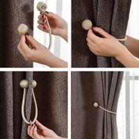 ingrosso rope-Tendenza magnetica Tiebacks drappo corda Holdbacks per fibbia Sheer Panels Camera da letto Corda Strap Home Decor
