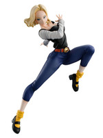 mücevher figürleri toptan satış-MegaHouse Dragon Ball Gals Android No. 18 Ver. IV PVC Action Figure Anime GEM GALS Şekil Koleksiyonu Model Oyuncaklar Bebek Hediye