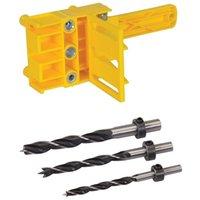 Wholesale set tools carpenter resale online - Promotion Dowel Drill Set For Pocket Hole Jig Mm Carpenters Joint Tool