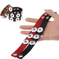 Wholesale bracelet accessories for women online - Snap Button Bracelet Bangles color High quality PU leather Bracelets For Women mm Snap Button Jewelry TC190116