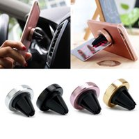 Wholesale abs holder for sale - Group buy Universal Car Mount Holder Magnetic Car Air Vent Aluminium ABS For Phone GPS Stand Holder