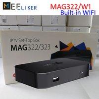 neueste tv-box großhandel-Neueste Wireless Mag Box MAG322 / W1 für IPTV mit Linux 3.3 HEVC H.265 TV Box MAG 322 Wifi Smart Media Player