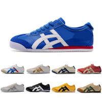 botas deportivas para mujer al por mayor-Venta caliente Onitsuka Tiger zapatos casuales para hombre Womens Athletic botas al aire libre marca deportes para hombre zapatillas de deporte zapatos de diseñador tamaño 36-44