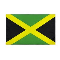 banderas jamaica al por mayor-3x5ft Jamaica Flag Country National Flags Two Sided Printing Polyester 90*150cm Jamaica Flag free shipping HHA1502