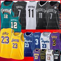 maillot de basket cousu achat en gros de-LeBron 23 James 7 Kevin Durant Jersey NCAA 3 Davis Ja Morant 12 Hommes Kawhi Jeunesse Kyrie Anthony Irving Chandails de basket-ball universitaires cousus