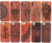 Wholesale wood shell carving for sale – best Genuine Wood Case For Iphone XS Max XR Plus Hard Cover Carving Wooden Phone Shell For Iphone Bamboo Housing Luxury S9 Retro Protector