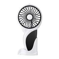 ledli lamba mini fan toptan satış-Baz için LED lambası Hava Soğutucu Sessiz Seyahat Fan İçin Ev Ofis Outdoors'u Soğutma ile El Mini USB Ağaçkakan Fan