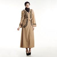 robes décontractées turques achat en gros de-2019 Nouveau Robe musulmane Femmes Vêtements Islamiques Caftan marocain Casual Imprimé ouvert Abayas Robe Dubaï Abaya Vêtements Turcs