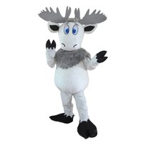 Wholesale outfits for mascots for sale - Group buy White Deer Costume Outfits Adult Size Cartoon Mascot costume For Carnival Festival Commercial Dress