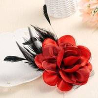Wholesale flower brooch cloth resale online - Colorful Cloth Cloth Art Fabric Flower Pin Brooch Women Elegant Fashion Pins Suits Decoration Wedding Party Banquet Brooch
