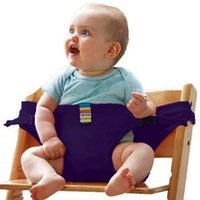 bebek sandalyeleri toptan satış-Bebek Yemek Sandalyesi Emniyet Kemeri Taşınabilir Koltuk Öğle Sandalye çocuk Koltuğu Streç Wrap Besleme Sandalye Demeti bebek Booster Seat wh0244