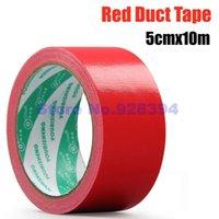 ingrosso nastro singolo-All'ingrosso 2016 5cmx10M Single-sided Red Carpet Panno Duct Tape Multi-Purpose durevole lacrima facile il trasporto libero impermeabile