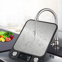 Wholesale weighing tools resale online - LCD Display kg g Multi function Digital Food Kitchen Scale Stainless Steel Weighing Food Scale Cooking Tools Balance