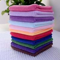 textiles para la casa al por mayor-Toalla textil para el hogar 10PCS Square Luxury Soft Fiber Cotton Face Hand Car Cloth Towel House Cleaning Practical Wholesale Random