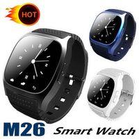 precios para samsung s5 al por mayor-M26 Bluetooth Smart Watches M26 Pulsera para iPhone 6 6S Samsung S5 S4 Note 3 HTC Android Teléfono Smartwatch para Hombres Mujeres Precio de fábrica