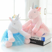 Wholesale pink blue stuffed animals for sale - Group buy Unicorn Stuffed Animal Pink Blue Ballet skirt Unicorn Kawaii Cartoon Plush Toys Kids Present Toys Children Baby Birthday Gift