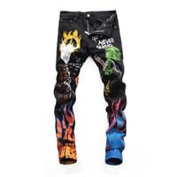 bom hip hop venda por atacado-Desgaste dos homens Rasgado Skinny Jeans Designer Slim Fit Denim Destroyed Denim Hip Hop Calças Para Homens de boa qualidade