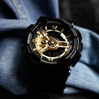 dropship mens moda venda por atacado-New Hot Selling Relógios Desportivos Moda Estilo G Mens Militar Display LED Relógios de Pulso Dual Display Relógio Analógico Dropship reloj hombre