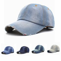 Wholesale men sun hats caps resale online - Vintage Unisex Cowboy Baseball Cap Causal Men Sport Camping Snapback Hats Outdoor Woman Jeans Travel Sun Hat TTA1125