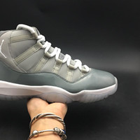 Air 11 High Cool Grey 378037-001 11s XI White Men Sports Shoes Sneakers Best Quality Trainers With Original Box