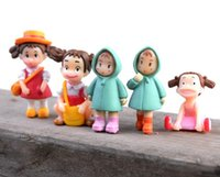 ingrosso miniature per giardini fiabeschi-Cute Cartoon Girls Totoro Fairy Garden Miniatures Gnomes Moss Terrarium Artificiale Decorazione della casa per la decorazione domestica