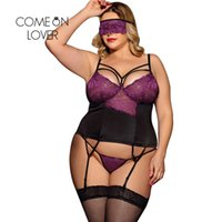 5f7e7fc8203 Halter Babydoll Sexy Erotic Plus Size Lace Nightwear With Eyepatch Tight Women  Baby Doll Sexy Lingerie With Garter Belt RL80419P