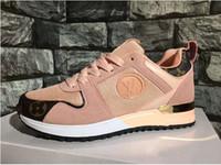 diseñador de zapatos de conducción al por mayor-2019 NUEVOS zapatos de lujo casuales hombres Mujeres Diseñador zapatillas de deporte de los hombres zapatos deportivos de moda color mezclado zapatos de conducción zapato para caminar al aire libre tamaño 36-44