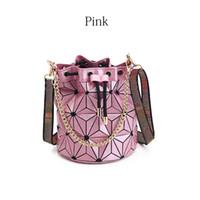 Wholesale handbag latest for sale - Group buy Latest Bucket Bag handbag purse High quality Geometric Handbags Plaid Chain Shoulder Crossbody bags Laser Diamond Bag