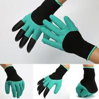 garten krallen großhandel-Garden Genie Handschuhe mit Fingerspitzen-Klauen Einfache Grabenpflanze Sicherer Beschneidungshandschuh Wasserdichter Strandschutz Mittens C5973