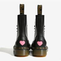 niedliche schnürstiefel groihandel-Jady Rose Nette liebevolle Herz-Frauen Ankle Boots Lace-up starkes unteres Plateau Stiefel flache Schuhe Frau Botas Militares Damen