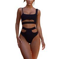 bodysuit nadar venda por atacado-Nibesser bikinis mulheres bandage maiô biquíni 2019 sexy push up swimwear cintura baixa maiô halter bikinis nadar bodysuit