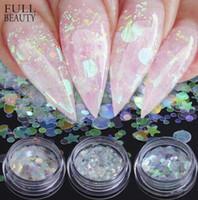 Wholesale star glitter nail art resale online - Full Beauty AB Chameleon Color Sequins Nail Art Glitter Flakes UV Gel Polish Star Heart Flower Paillette Decor Tools CHAB01
