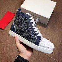 Wholesale blue suede dresses for sale - New Newest Luxury Designer Red Bottoms Men Women Shoes Fashion Suede With Spikes Loafers Rivets Designer Casual Dress Sneakers Soles Boots