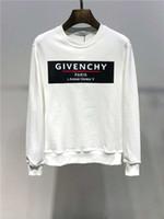 hoodies kadın xxxl toptan satış-Mens kapalı Tasarımcı beyaz Hoodie Kazak Erkek Kadın Kazak Hoodie Uzun Kollu Kazak Marka Hoodies Streetwear Moda Kazak