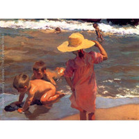 Wholesale art panels for sale for sale - Hand painted Joaquin Sorolla y Bastida oil paintings for sale The Young Amphibians landscapes art for wall decor