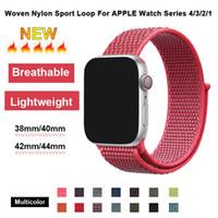 тканевые наручные часы оптовых-Hibiscus Sport Loop Band 40 мм 44 мм для Apple Watch 4 Нейлоновый ремешок на запястье Тканевый ремешок 38 мм 42 мм для Iwatch 3