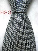corbatas amarillas para hombre al por mayor-Clásico 100% JACQUARD TEJIDO HECHO A MANO Diseño masculino Perfecto color amarillo / azul Hombre corbata de seda Corbata # 083