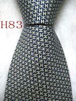 gravatas amarelas para homens venda por atacado-Clássico 100% JACQUARD TECIDO FEITO SOB ENCOMENDA Mens Design Perfeito Amarelo / Azul homens cor gravata de seda Gravata # 083