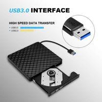 dvd tragbar für pc groihandel-Portable USB 3.0 -RW Brenner-Laufwerk Brenner DVD / CD-Reader-Player mit USB-Kabel für Mac & PC