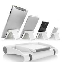 soporte para teléfono plegable al por mayor-Soporte portátil para tablet PC Soporte para teléfono plegable Soporte universal ajustable para smartphone