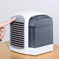 ventilateurs refroidis par eau à la maison achat en gros de-2019 Nouveau mini climatiseur portable Ventilateur refroidi à l'eau USB Bureau Ordinateur de bureau Ventilateur portatif Ventilateur d'eau Climatisation portable pour la maison