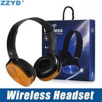 bluetooth stereo müzik kulaklığı toptan satış-ZZYD 450BT Kablosuz Kulaklıklar Bluetooth Gaming Headset Stereo Müzik Çalar Geri Çekilebilir Kafa Surround Stereo Kulaklık Mic ile PC Için Sm